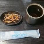 そば処秀峰 - 揚げ蕎麦と麦茶