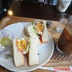 cafe なかちよ - ホットサンドset 660円(税込)