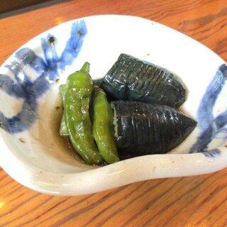 芭蕉庵 - 料理写真:揚げなすの煮浸し!