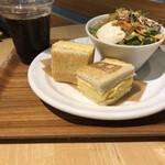 ベシャメルカフェ - 厚焼き玉子サンドセット 700円