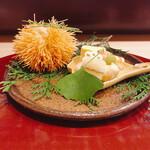 稲穂 - 料理写真:お店名物いがぐり揚げ