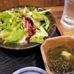 蔵元居酒屋 清龍 - サラダ、小鉢。