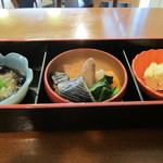 東京満月 - 小鉢3種