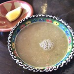 Zenobia Cafe - スペシャルランチ             豆のスープ。
