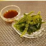 Kagurazaka sushi tamura - 海ぶどう