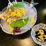 柿の葉ずし 平宗 - 鮎元気過ぎ 菊を散らしました 鮎会席