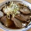 長八 - 料理写真:ねぎチャーシューメン(大盛)+味付け玉子