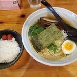 麺や七福 - 七福ラーメン壱+サービス半ライス2020.09.03