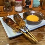 焼き鳥 まる - お月見つくね 宮崎県銘柄鶏 さつま純然鶏