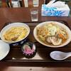 雲沢観光ドライブイン - 料理写真:Aセット。ラーメンを味噌ラーメンに変更!950円