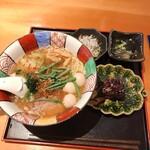 星火 - 星火ラーメンと黒米のおにぎり膳(醤油)