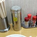 スター食堂 - 卓上セッティング
