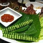 焼肉トラジ - サンチュ  580円