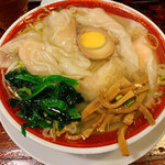 広州市場 - 清湯海老雲呑麺