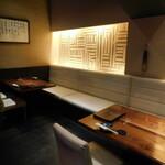 WA-DINNER き - 店内(テーブル席)