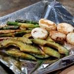 じゅん平 - 野菜焼き(アボカド、アスパラ、山芋)