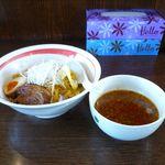 麺部屋 綱取物語 - アンチョビトマトつけ麺
