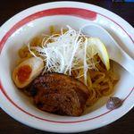 麺部屋 綱取物語 - アンチョビトマトつけ麺の麺