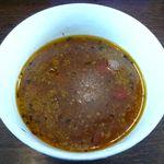 麺部屋 綱取物語 - アンチョビトマトつけ麺のつけ汁