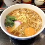 小諸そば - たぬきそば(350円)+玉子(50円)