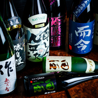 こだわりの日本酒をはじめ、豊富なドリンクをお手頃価格で♪