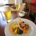 13645465 - ランチコースの前菜とビール