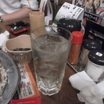13645644 - ミント焼酎ハイです。見てくれは普通ですが、中々面白い味です。