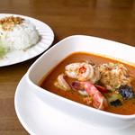 えなっ - 料理写真:トマトココナッツ海老カレー