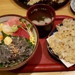 寿司懐石 かご家 - 料理写真:チラシ寿司しらすかき揚げつき