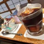 136462176 - アイスコーヒーもしっかり美味しいんですよね…♪