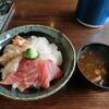まぐろや 柳橋 - 料理写真:三色(本鮪・鯛・赤エビ炙り)1,000円