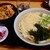 かのや - 料理写真:かき揚げ丼セット・うどん(600円)