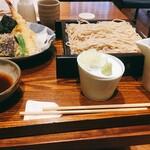 蕎麦五反 - 天ぷら盛り合わせとせいろ