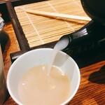 蕎麦五反 - そば湯