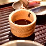 和食とお酒 きいろ - 【アジフライとエビのメンチカツ定食@1,200円】中濃ソース