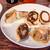 中華食堂 きずな  - 料理写真:餃子(焼きに失敗して無料でサービスして下さいました)