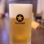 焼肉べこ六 - 生ビール(中)