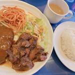 レストラン アライ - お味噌汁 ライス付き