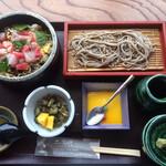 土風炉 - 海鮮ちらし鮨・幌加内蕎麦セット