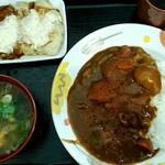 大衆食堂 半田屋 - 自作「チキン南蛮カレー定食」 計¥582也
