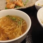 中華厨屯知 - ダブルランチの「スープ」