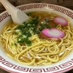 千崎製麺 - ラーメン(太麺のあっさりしょうゆ)
