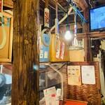 大阪焼トンセンター - 店内 吊り革が良いよね(๑•ω•́ฅ✧