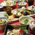中之島 穂の河 - 会席くずし3500円(税抜)