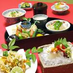 中之島 穂の河 - はなまち弁当2500円(税抜)※はなまち会席風料理を一度にお出しいたします。