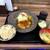 極厚家 - 200729極厚生姜焼き定食1050円醤油味、コーンとツナのポテサラ