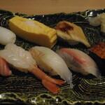 海鮮茶屋 せんざん本店 - 寿司御前 寿司8貫