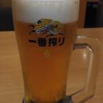 海鮮茶屋 せんざん本店 - 生ビール(中ジョッキ)キリン一番搾り