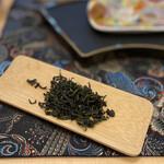 花咲み荼 - 文山包種子茶 烏龍茶の発酵?が浅く、緑茶の様な味わいでした