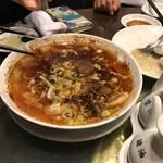 随園別館 - 海老と山椒の辛いスープ